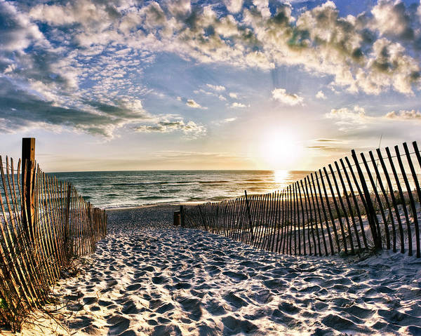 Sunset Beach 30a Rosemary Florida White Sand Pathway Art by Eszra