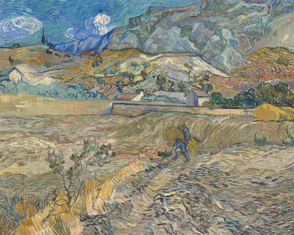 Landscape at Saint Remy  by Vincent van Gogh