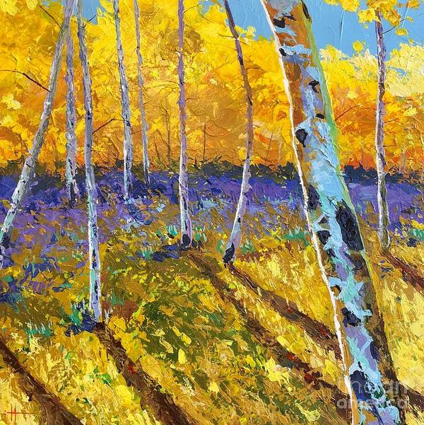 Aspen Art Print featuring the painting All In The Golden Afternoon by Hunter Jay