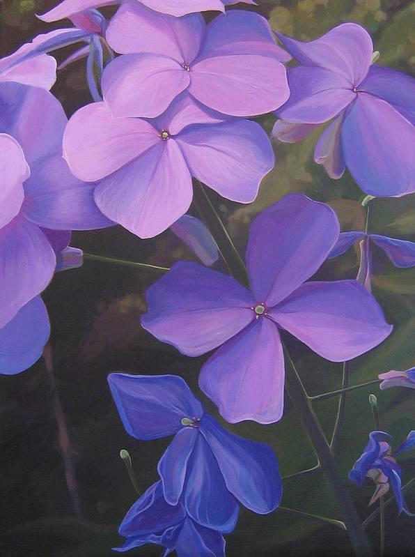 Closeup Of Colorado Wildflower Near Durango Art Print featuring the painting Lush Life by Hunter Jay