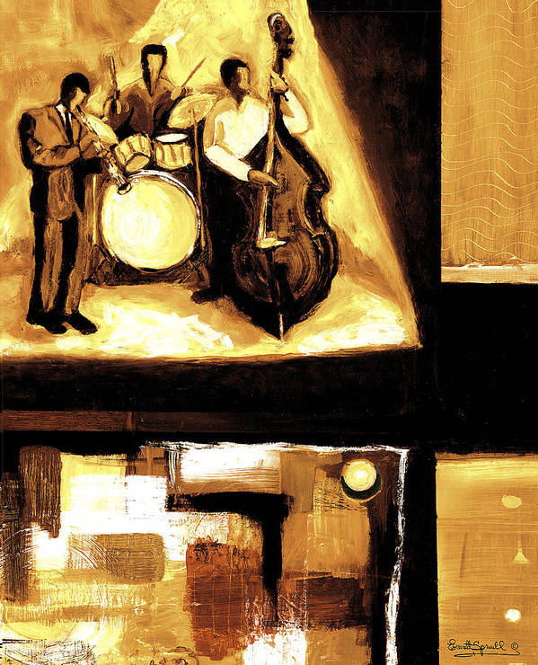 Everett Spruill Art Print featuring the painting Modern Jazz Number Two by Everett Spruill