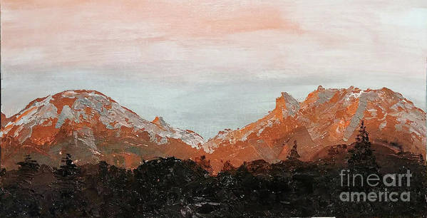 Buffalo and Red Mountains by Escudra Art