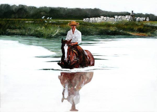 Pantanal Art Print featuring the painting Pantanal by Pedro Mauro Dias