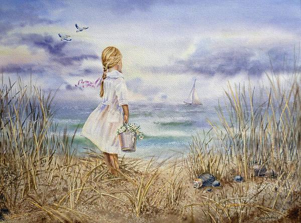 Girl At The Ocean by Irina Sztukowski