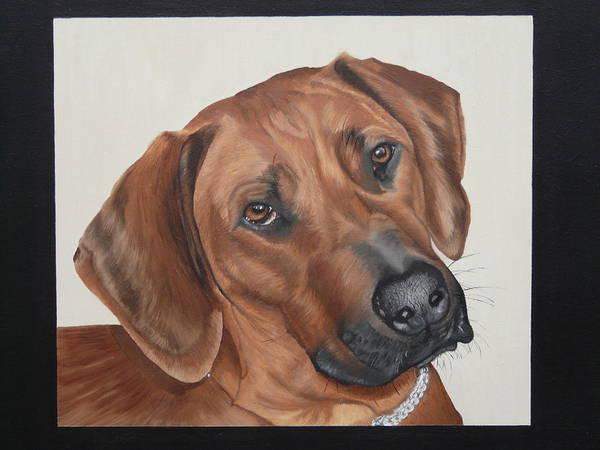 Ridgeback-dog Art Print featuring the painting Lola by Judith Hoof van
