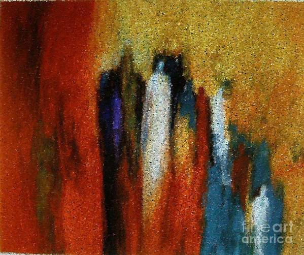 Abstract Art Print featuring the painting Spirits Gathered by Don Phillips