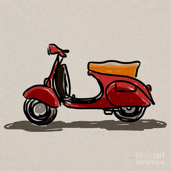 Scooter classic style. by Panupong Roopyai