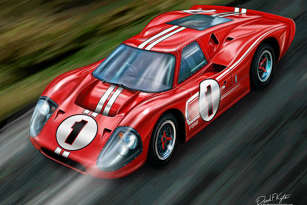 Ford GT-40 at Le Mans by David Kyte