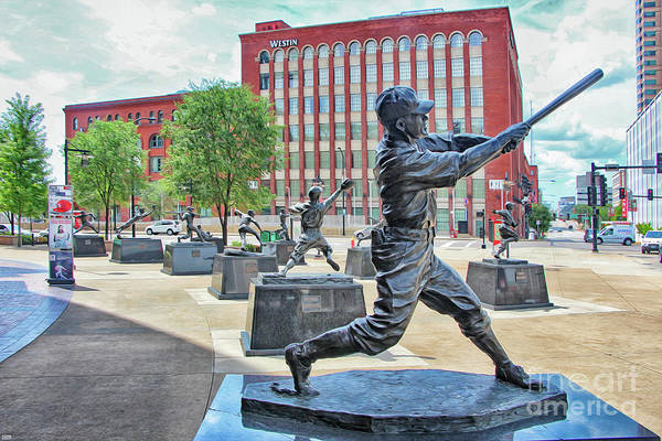 Statues outside St. Louis Cardinals Busch Stadium by Nishanth Gopinathan