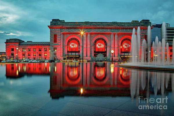 K C Union Station Red Friday by Kevin Anderson