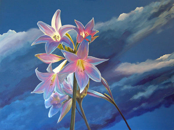 Botanical Art Print featuring the painting Spellbound by Hunter Jay