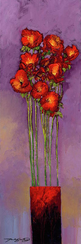 Florals Art Print featuring the painting Embracing A Culture Of Optimism by Ford Smith