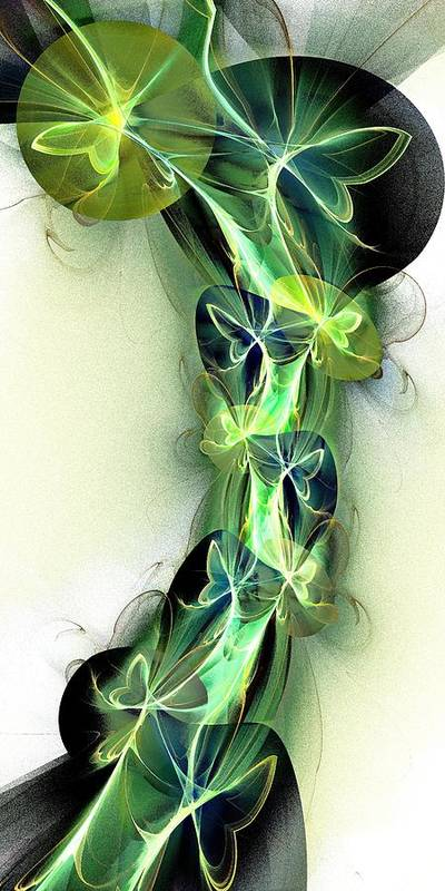 Plant Art Print featuring the digital art Beanstalk by Anastasiya Malakhova