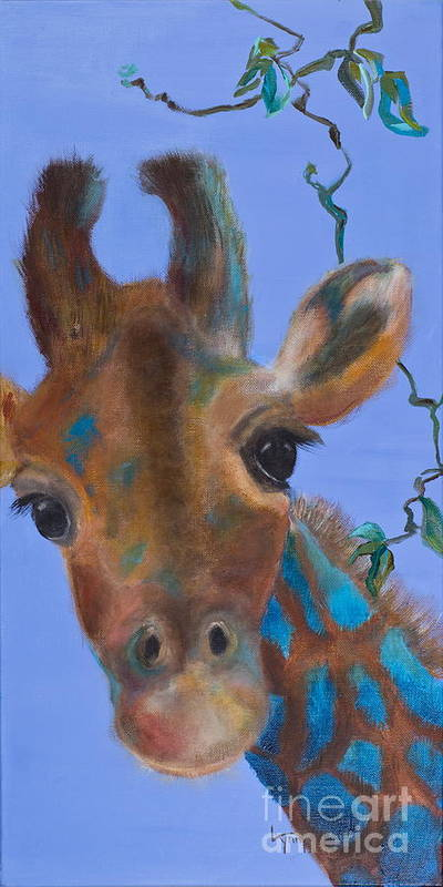 Giraffe Art Print featuring the painting Fiona by Lynn Rattray