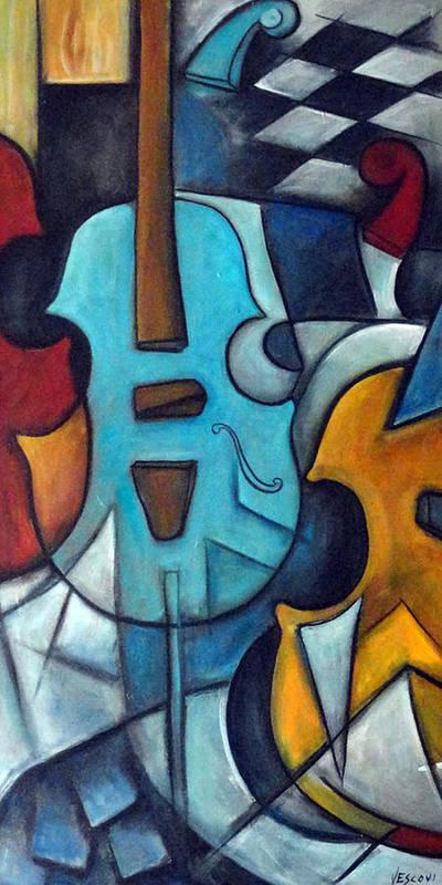 Music Art Print featuring the painting La Musique 2 by Valerie Vescovi