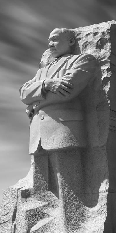 Landmarks Art Print featuring the photograph Martin Luther King Jr. Memorial - Washington D.c. by Mike McGlothlen