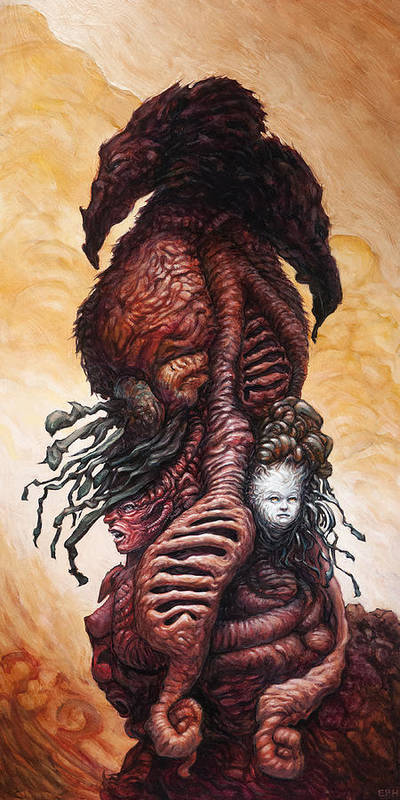 Beast Art Print featuring the painting The Mutant Bloom Version 2 by Ethan Harris