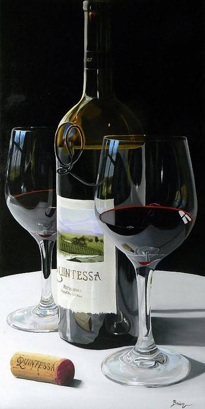 Wine Art Art Print featuring the painting Worth The Wait by Brien Cole
