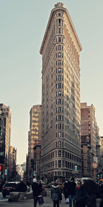 New York City Art Print featuring the photograph Flat Iron Building by Benjamin Matthijs