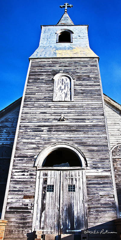 Church Art Print featuring the photograph Rising To The Sky by Edward Peterson