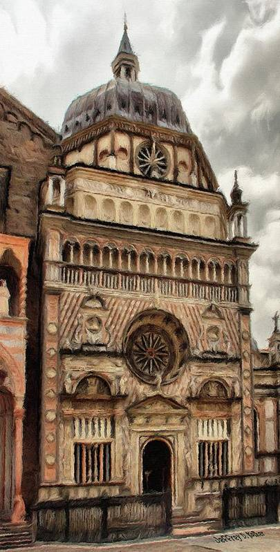 Chapel Art Print featuring the painting Colleoni Chapel by Jeffrey Kolker