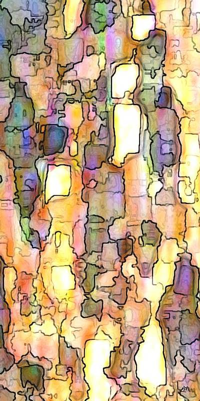 Abstract Art Print featuring the digital art Elation Panel Two Of Two by Linda Mears