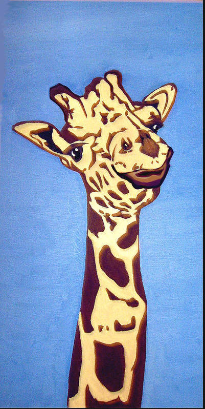 Art Art Print featuring the painting Giraffe by Darren Stein