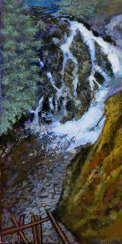Falls Art Print featuring the painting Hunt Falls by Robert Bissett