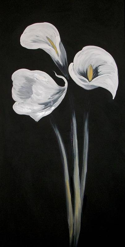 Floral Art Print featuring the painting Lilies Ffor Brandy by Tami Booher