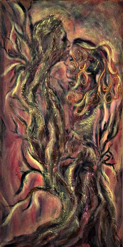 Tree Art Print featuring the mixed media Roots by Jacqueline Milner