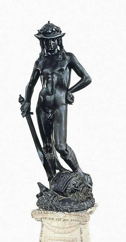 Vertical Print featuring the photograph Donatello, Donato De Betto Bardi by Everett