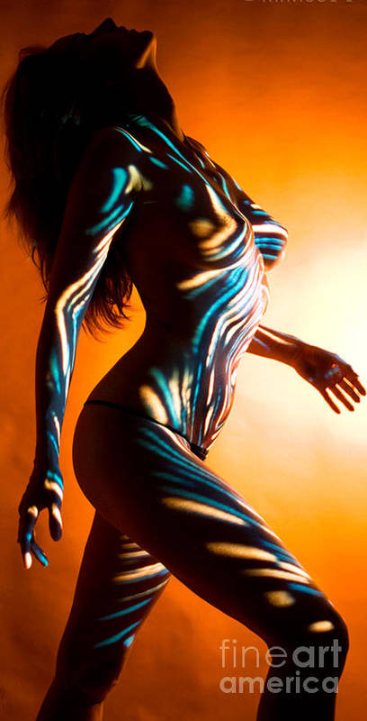 Figure Art Art Print featuring the painting Beauty In Light by Thomas Oliver