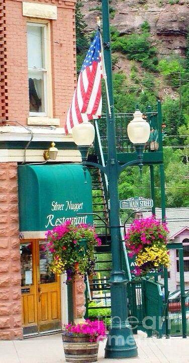 Ouray Print featuring the photograph Ouray Street Lamp by Trisha Buchanan