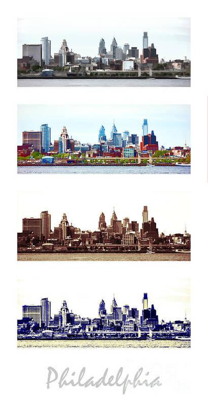 Philadelphia Art Print featuring the photograph Philadelphia Four Seasons by Olivier Le Queinec