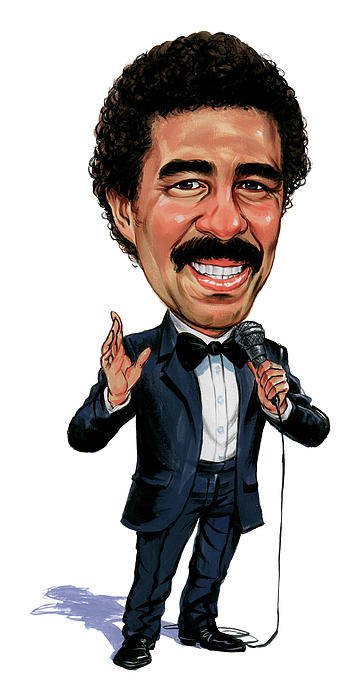 Richard Pryor Art Print featuring the painting Richard Pryor by Art