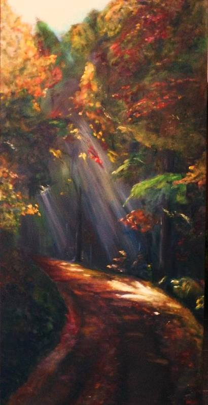 Oil On Canvas Art Print featuring the painting Daybreak by Dana Redfern