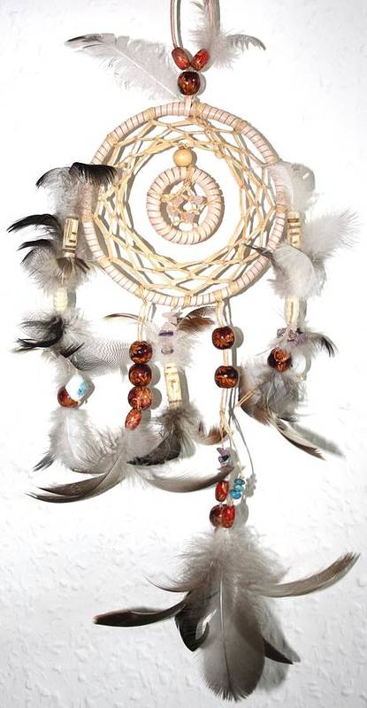 Dreamcatcher Art Print featuring the mixed media Dreamcatcher by Toon De Zwart