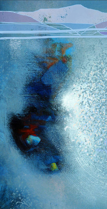 Landscape Art Print featuring the digital art Lake Effect Snow by Dale Witherow