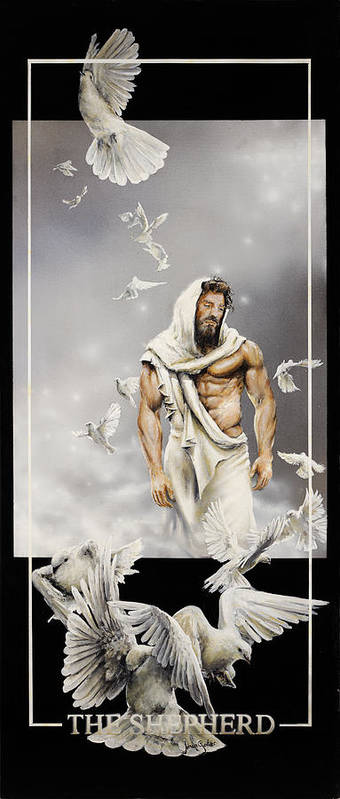 Jesus Art Print featuring the painting The Shepherd by Johan Gorter