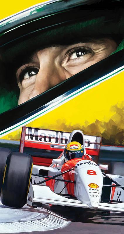 Ayrton Senna Artwork Art Print By Sheraz A