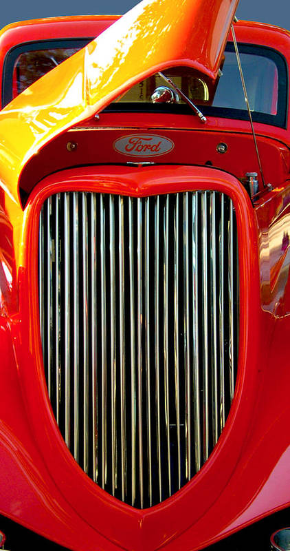 Ford Art Print featuring the photograph Red Ford by Michael Baum