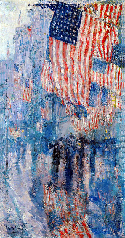 Frederick Childe Hassam Art Print featuring the digital art The Avenue In The Rain by Frederick Childe Hassam