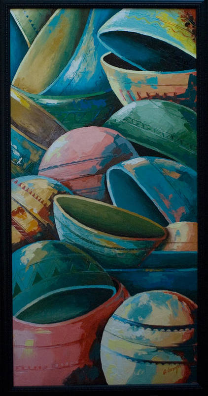 Art Print featuring the painting Calabash by Alfred Awonuga