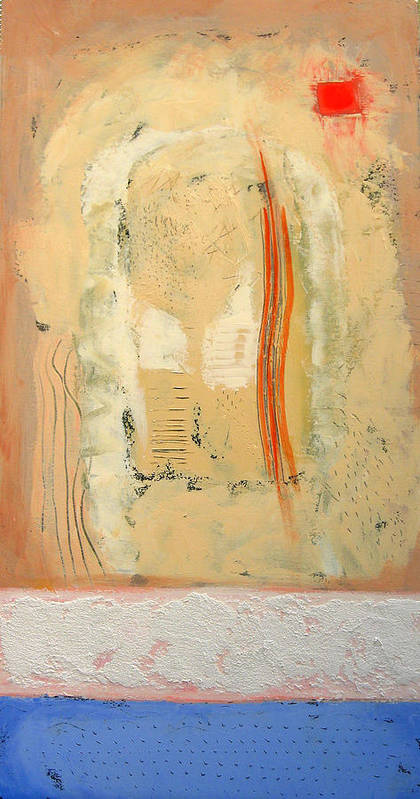 Abstract Art Print featuring the painting Heat by Aliza Souleyeva-Alexander