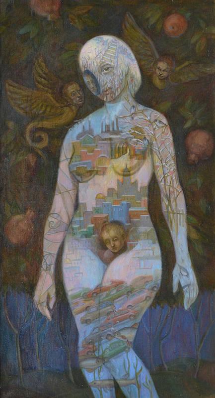 Eve Art Print featuring the painting Eve by Viktoriya Basina