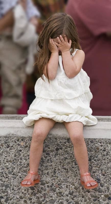 Little Girl Art Print featuring the photograph Fed Up With The Presidential Visit by Scott Lenhart