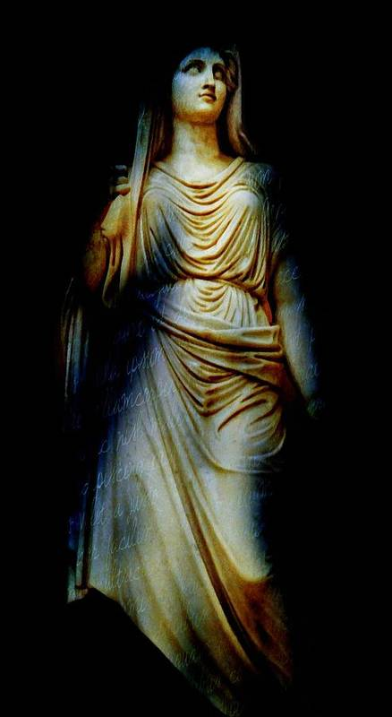 Statue Art Print featuring the photograph Goddess Of The Night by Diana Angstadt
