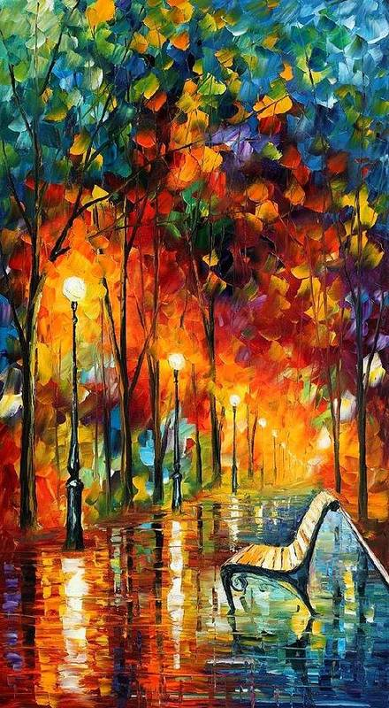 Afremov Art Print featuring the painting The Symphony Of Light by Leonid Afremov