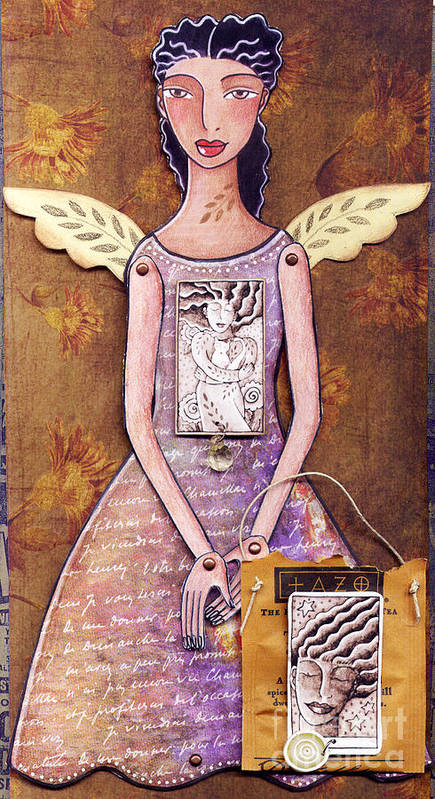 Paper Doll Art Print featuring the mixed media Annie by Elaine Jackson
