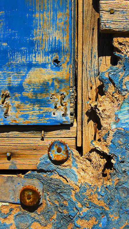 Abstract Art Print featuring the photograph Blues Dues by Skip Hunt